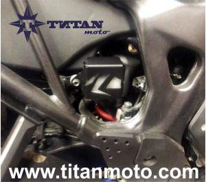 Rear brake fluid reservoir guard