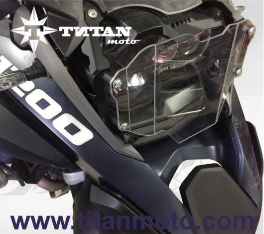 Headlight protector LEXAN with quick release fastener